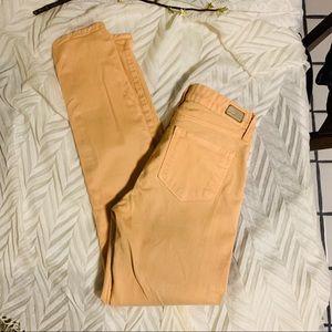 Paige Peg Super Skinny Peach Jeans